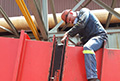 Installation of SuperSpan MKII Flextra moulded Elastomeric expansion joint