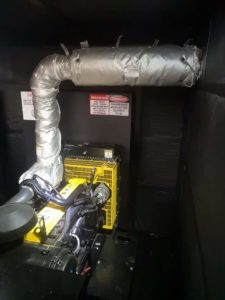 Exhaust cover on diesel generator