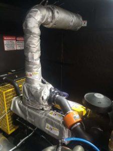 Exhaust cover on diesel generator2