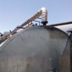 Flextra Pipe insulation on a mobile bituman plant