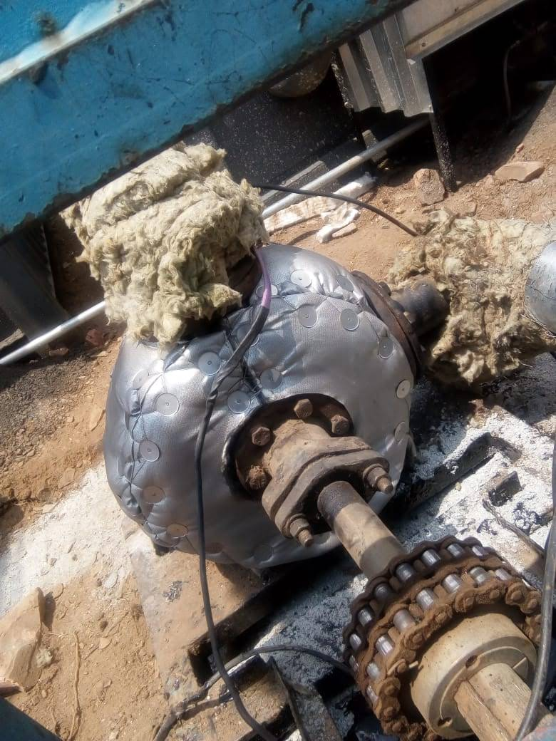 Flextra Pump insulation on a bitumen plant