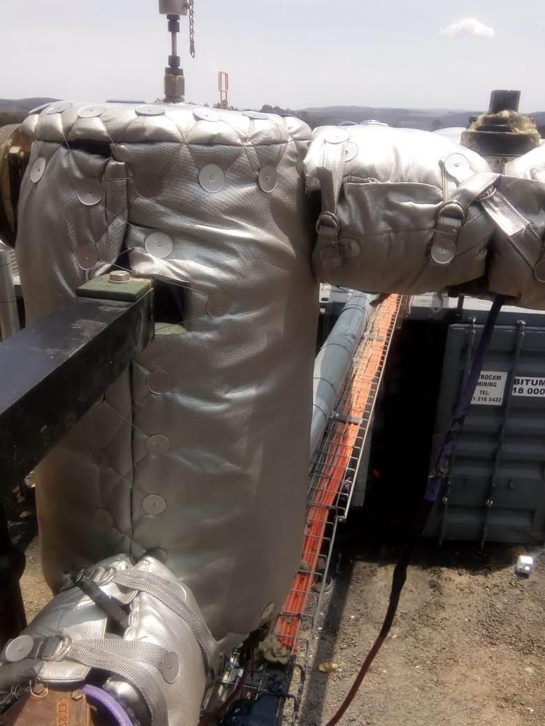 Flextra Tank and valve insulation on Bitumen plant